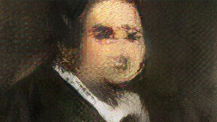 Das Gemälde von Edmond Belamy - wie die KI ihn schuf (Foto: Obvious)