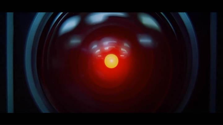 """Der neurotische HAL 9000 (Filmbild: """"2001: Odyssee im Weltraum"""" / Warner Home Video)"""