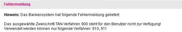 Nichtssagende Fehlermeldung bei telekom.de
