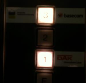 Bedienknöpfe für den Fahrstuhl