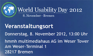 Logo des World Usability Day