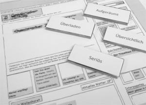 Papierprototyp für Usability-Test