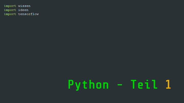 Screenshot einer Entwicklungsumgebung für Python (Jan Uhlenbrok)