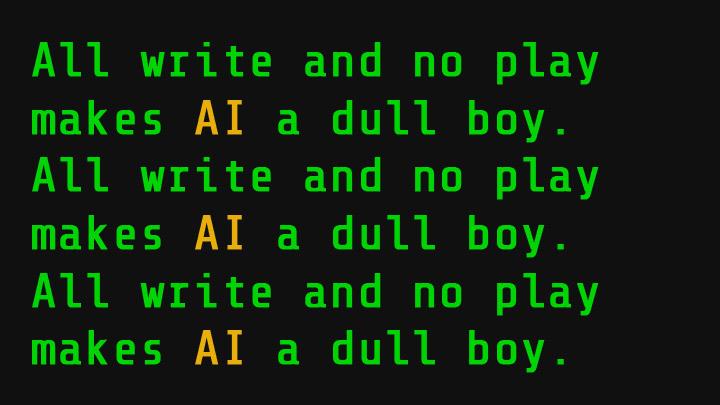 Eine Schreibmaschine wird von einem Roboter bedient