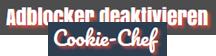 Adblocker deaktivieren / Cookie Chef - Logo